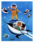 A Day in Outerspace - Jack and Jill, September 1957 Giclee Print by Lou Segal