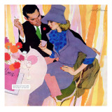 """Marriage Is Not For Me  - Saturday Evening Post """"Leading Ladies"""", June 15, 1957 pg.40 Giclée-Druck von Robert Meyers"""