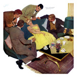 "Marriagable Age - Saturday Evening Post ""Men at the Top"", December 13, 1958 pg.28 Giclee Print by Kurt Ard"