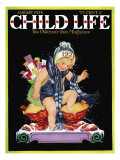 Happy New Year - Child Life, January 1928 Giclee Print by Hazel Frazee
