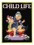 Happy New Year - Child Life, January 1928 Giclee Print by Hazel Frazee