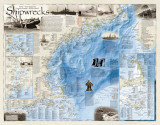 Shipwrecks of the Northeast Map Poster