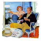 "The Swindler's Wife - Saturday Evening Post ""Men at the Top"", December 13, 1958 pg.23 Giclee Print by George Hughes"