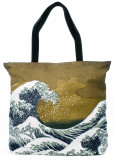 The Wave Tote Bag by Katsushika Hokusai