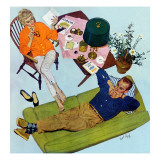 "Husbands Better Tell - Saturday Evening Post ""Men at the Top"", September 6, 1958 pg.17 Giclee Print by Kurt Ard"