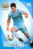 Man City- Sergio Aguero Posters