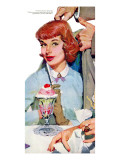 "New Girl  - Saturday Evening Post ""Leading Ladies"", July 23, 1955 pg.31 Giclee Print by Lynn Buckham"