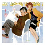 "Unfinished Love - Saturday Evening Post ""Men at the Top"", April 5, 1958 pg.28 Giclee Print by Joe Bowler"