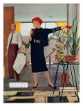 "The Brute Next Door  - Saturday Evening Post ""Leading Ladies"", October 9, 1954 pg.22 Giclee Print by Austin Briggs"