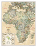 National Geographic Africa Map, Executive Style Prints