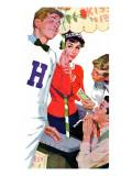 "A Dollar a Kiss  - Saturday Evening Post ""Leading Ladies"", September 4, 1954 pg.24 Giclee Print by Lynn Buckham"