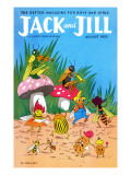 Bug Dance - Jack and Jill, August 1955 Giclee Print by Wilmer Wickham