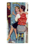 "The Undecided Blonde  - Saturday Evening Post ""Leading Ladies"", January 29, 1955 pg.p24 Giclee Print by Robert Meyers"