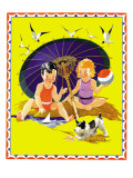 Summer Fun - Child Life, August 1935 Giclee Print by Janet Laura Scott