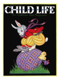 Happy Easter - Child Life, April 1928 Giclee Print by Hazel Frazee