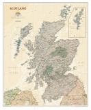 National Geographics karta över Skottland, exekutiv stil, engelska Posters