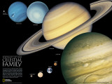 National Geographic The Solar System Lámina