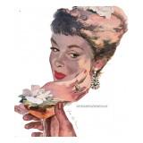 "The Indiscreet Widow - Saturday Evening Post ""Leading Ladies"", June 10, 1950 pg.38 Giclee Print by Joe deMers"