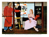 "The Psychological Female - Saturday Evening Post ""Leading Ladies"", November 22, 1952 pg.37 Giclee Print by Bernard D'Andrea"
