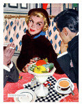 "The Indiscreet Window  - Saturday Evening Post ""Leading Ladies"", January 20, 1951 pg.20 Giclée-Druck von Joe deMers"