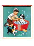 Time For a Bath - Child Life, June 1935 Giclee Print by Clarence Biers