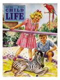 Baby Zebra - Child Life, May 1946 Giclee Print by Katherine Wireman