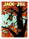 Flying Squirrel - Jack and Jill, November 1955 Giclee Print by Georgeann Helms