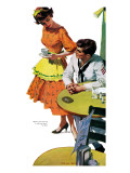 "Girls Are For The Asking - Saturday Evening Post ""Leading Ladies"", May 24, 1958 pg.31 Giclee Print by Morgan Kane"