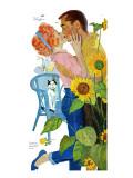"""Love Struck - Saturday Evening Post """"Leading Ladies"""", April 25, 1959 pg.37 Reproduction procédé giclée par Bernard D'Andrea"""