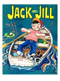 Fishing  - Jack and Jill, July 1967 Giclee Print by Robert Jefferson