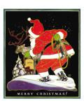 Harnessing the Reindeer - Child Life, December 1931 Reproduction procédé giclée par Keith Ward
