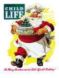 Happy Birthday Child Life! - Child Life, December 1946 Giclee Print by Keith Ward