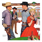 "The Lady from Red Gulch  - Saturday Evening Post ""Leading Ladies"", August 13, 1955 pg.28 Giclee Print by Bernard D'Andrea"