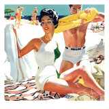 """I Love My Mother-In-Law - Saturday Evening Post """"Leading Ladies"""", June 5, 1954 pg.20 Giclée-tryk af Robert Meyers"""