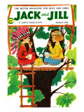 Treehouse Snack - Jack and Jill, August 1958 Giclee Print by R & C Newton