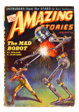 Amazing Stories The Mad Robot Giclee Print