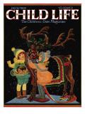 Dressing the Reindeer - Child Life, December 1925 Giclee Print by Hazel Frazee