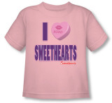 Toddler: Necco - I Heart Sweethearts Shirts