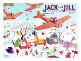 Valentine's  - Jack and Jill, February 1941 Reproduction procédé giclée par Michael Berry