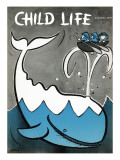 Moby Dick - Child Life, June 1959 Giclee Print by Keller