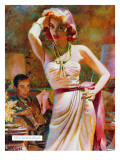 "She Wouldn't Believe Him - Saturday Evening Post ""Leading Ladies"", October 1, 1955 pg.29 Giclee Print by Edwin Georgi"
