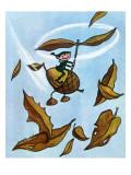 Flying Acorn - Jack and Jill, October 1954 Giclee Print by Leo Politi