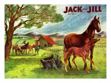 Horses - Jack and Jill, June 1946 Giclee Print by Virginia Mann
