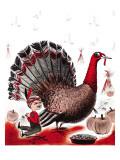 Mr. Turkey - Child Life, November 1955 Giclee Print by Elsie Fowler