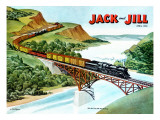 Cross-Country Rail - Jack and Jill, April 1951 Giclee Print by Wilmer Wickham