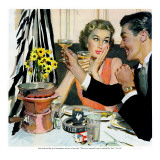 "Marriage is for Suckers  - Saturday Evening Post ""Leading Ladies"", March 7, 1953 pg.21 Lámina giclée por Joe deMers"