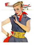 The Girl Who Stole Airplanes  - Saturday Evening Post &quot;Leading Ladies&quot;, December 6, 1952 pg.24 Giclee Print by Coby Whitmore