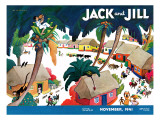 Island Village - Jack and Jill, November 1941 Giclee Print by Katherine Millhous
