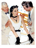 "Old Man's Darling  - Saturday Evening Post ""Leading Ladies"", March 8, 1952 pg.24 Giclee Print by Joe deMers"