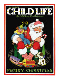 Santa & the Toys - Child Life, December 1935 Giclee Print by Hazel Frazee